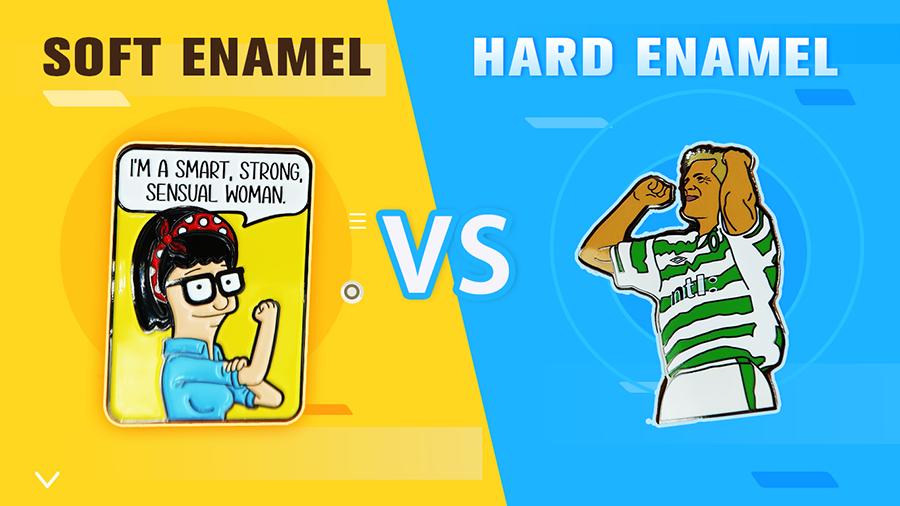 Soft Enamel VS Hard Enamel--unilapelpin