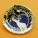 Hard Enamel Lapel Pin Badge with glitter -Unilapelpin24