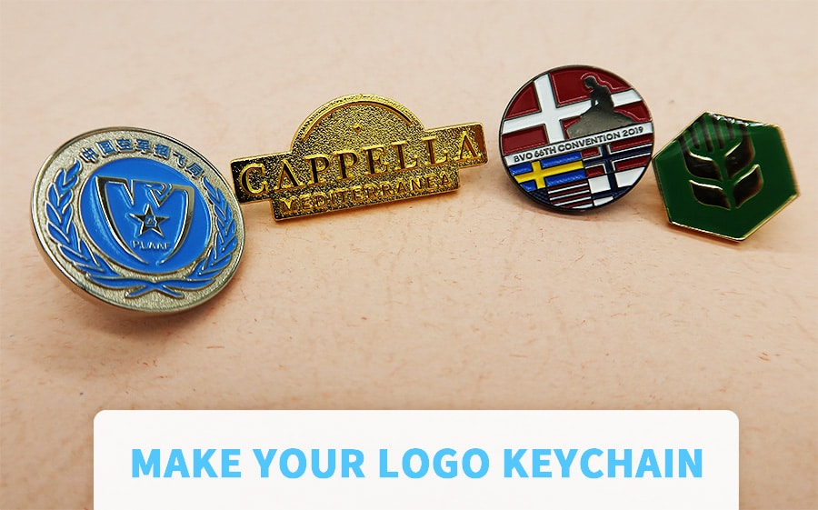 Make your logo keychain and lapel lapel pin