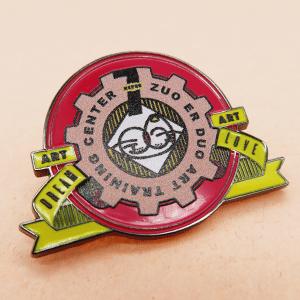 Soft Enamel+UV printing lapel pins-Unilapelpin04
