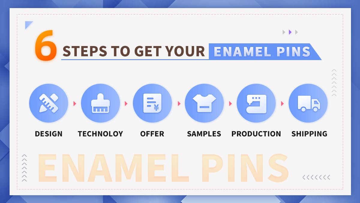 6 steps to get your enamel lapel pin
