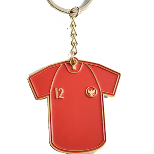 Soft Enamel Football Club Keyring