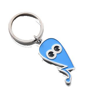 custom soft enamel logo keychain