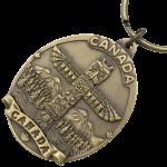 custom die struck keychain