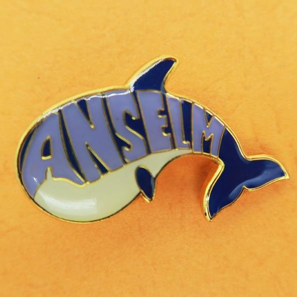 custom animal pin badge