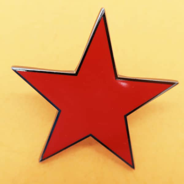 hard enamel five star pin badge